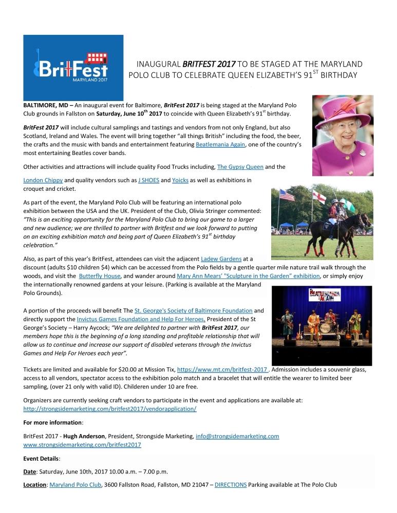 Britfest Brochure